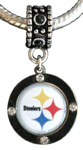 12 99 pittsburgh steelers charm with connector compatible
