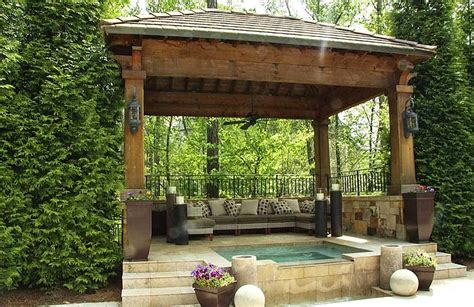backyard gazebo ideas quiet corner