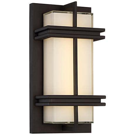 possini stanfield 12 quot high bronze led wall light
