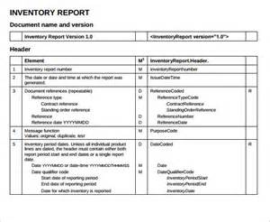inventory report template doc 580550 sle inventory report template sle