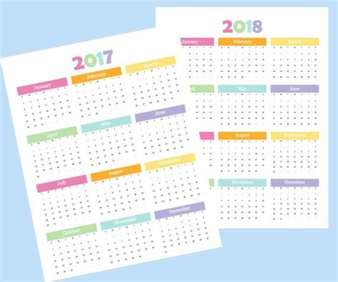 2018 year at a glance full year calendar by mbucherconsulting 2018