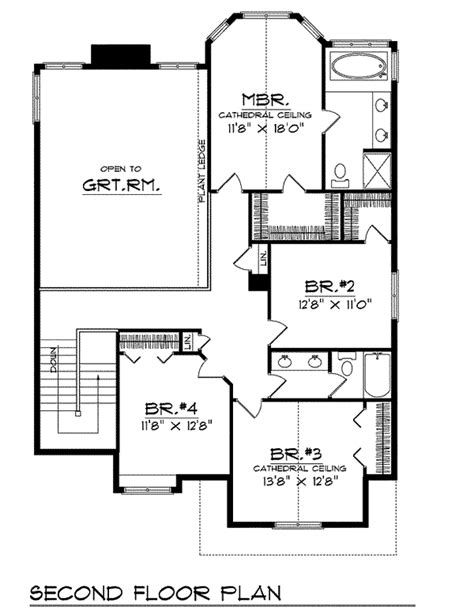 house plans with master suite on second floor 4 bedroom no wasted space 89579ah 2nd floor master