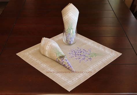 tresor trouve french lavender gray walls check lavender taupe french provence printed cotton napkins