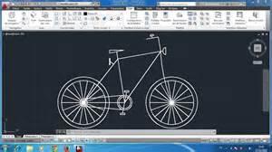 2d cad autocad 2d bicyclette