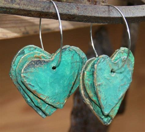 Jewellery Using Paper - paper mache hearts earrings paper earrings earrings and