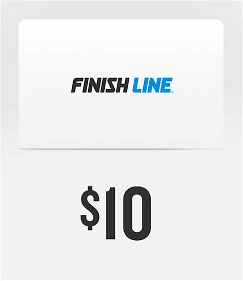 Finish Line Gift Cards - finish line 10 gift card finish line