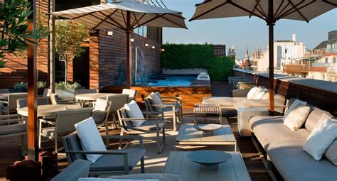 don sofa leganes rooftop terrace at luxury boutique hotel omm in barcelona
