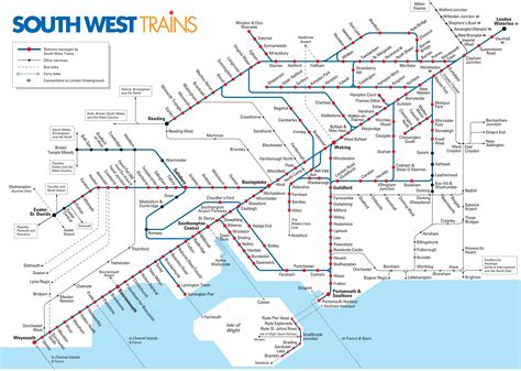 rail map map of commuter rail stations lines