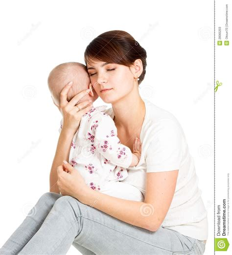 How To Comfort Baby by Trying To Comfort Baby Stock Photos Image