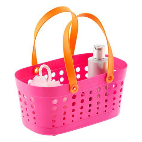 casabella pink orange shower basket the