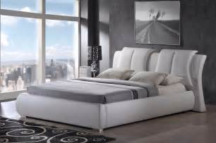 Bedroom Furniture Headboards Modern King Size Leather Platform Bed Frame W