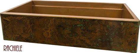 how to patina copper sink rustic copper patina choices for copper apron front sinks