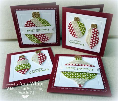 washi card white house sting washi ornaments