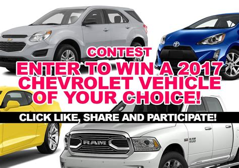 chevrolet contest chevrolet sweepstakes chevrolet contests autos post