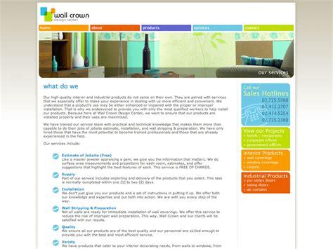 web design centered layout wallcrown design center teknikulay graphic design studio