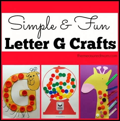 simple letter g crafts for toddlers and preschoolers the