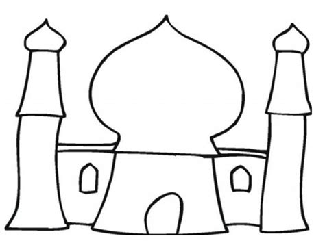 Masjid Colouring Pages sketch template