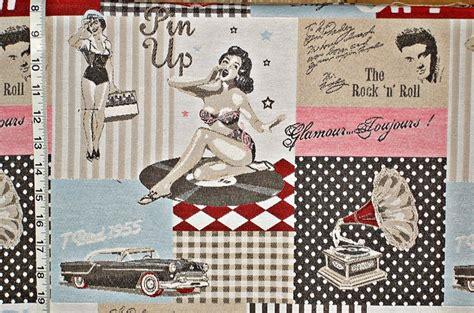 pin up pattern fabric retro fabric blue reef toile fabric 19 december 2012