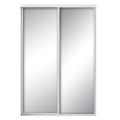 Aluminum Closet Doors Contractors Wardrobe 48 In X 81 In Concord Mirrored White Aluminum Interior Sliding Door Con