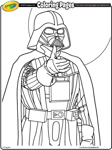 crayola coloring pages wars wars darth vader coloring page crayola