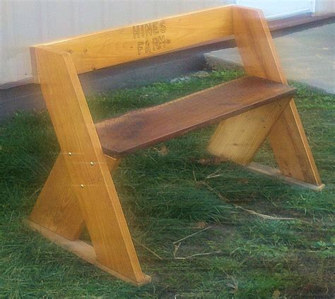 home made benches hines farm blog hines farm 45 quot homemade bench with