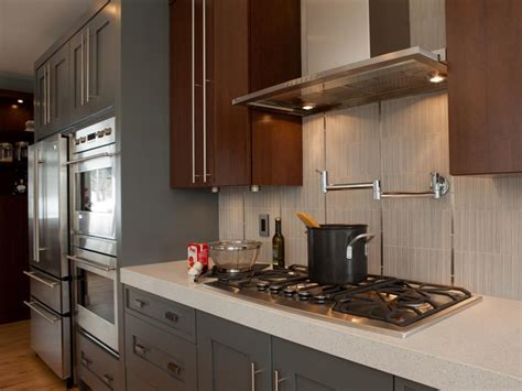 kitchens with backsplash 20 stainless steel kitchen backsplashes hgtv
