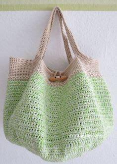 tutorial rajutan gratis knotted rainbow tote bag free crochet pattern on