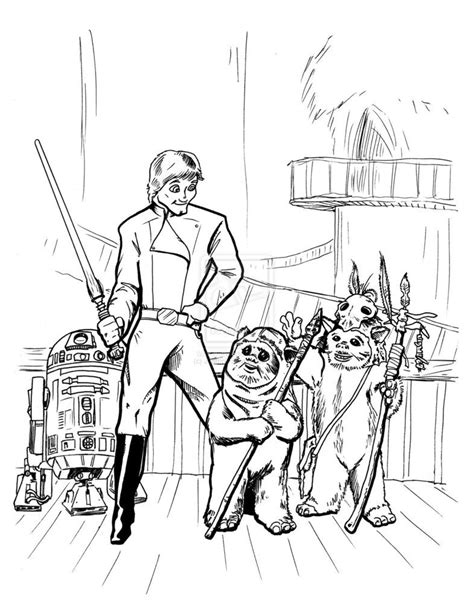 ewok coloring pages download print star wars coloring