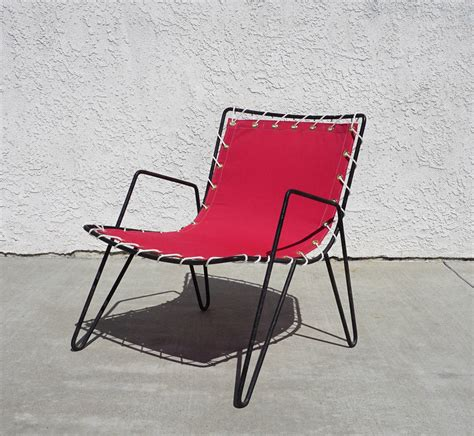 Canvas Patio Chairs 1950s Iron And Canvas Outdoor Sling Chairs At 1stdibs