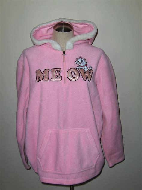 Promo Jaket Hoodie Cat Meow A Pink disney aristocats meow pink hoodie sweatshirt xl pullover cat sweatshirts hoodies