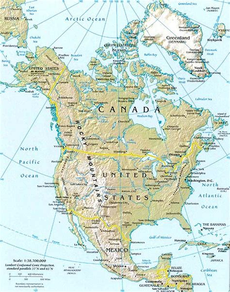 america landforms map america map geography of america map of