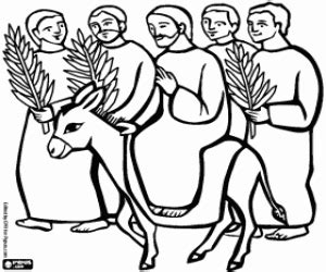 coloring page jesus triumphal entry bible new testament coloring pages printable