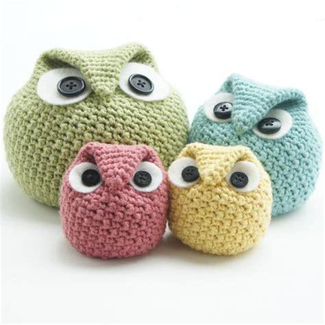 pattern crochet owl crochet chubby owl family knitting patterns and crochet