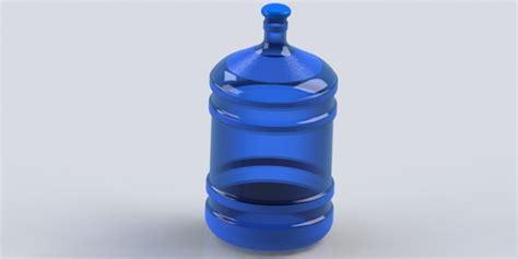 tutorial solidworks bottle 5 gallon water bottle solidworks 3d cad model grabcad