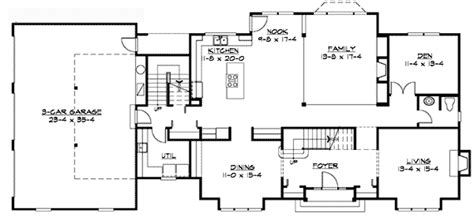 traditional colonial home plan 23309jd architectural