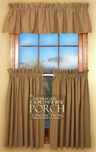 The Country Porch Curtains Solid Wheat Curtain Valances