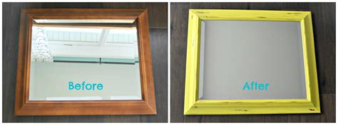 chalk paint mirror frame diy decor how to update a framed mirror with chalk paint