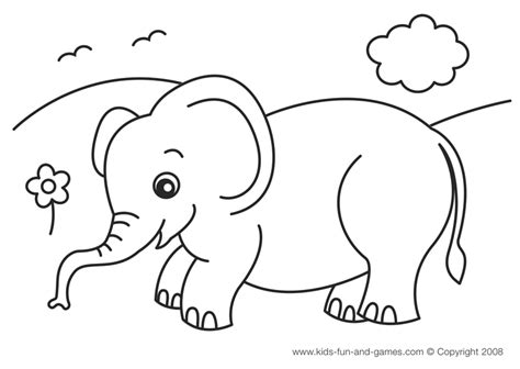 printable pictures elephants elephant coloring pages