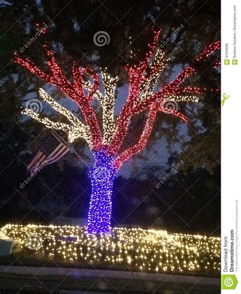 patriotic christmas lights stock photo image of bright