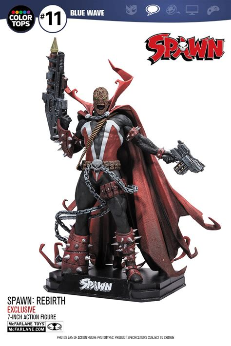 Mc Farlane Spawn Rebirth Unmask spawn toys are back and an exclusive look