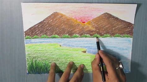 How To Draw A Mountain Landscape For Kids Easy Youtube House On The Prairie Coloring Pages