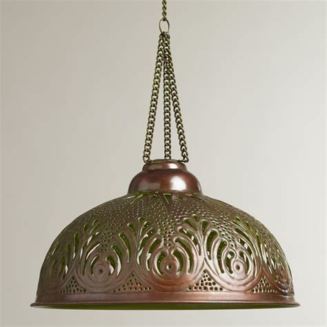 World Market Pendant Light Cerise Punched Pendant L World Market