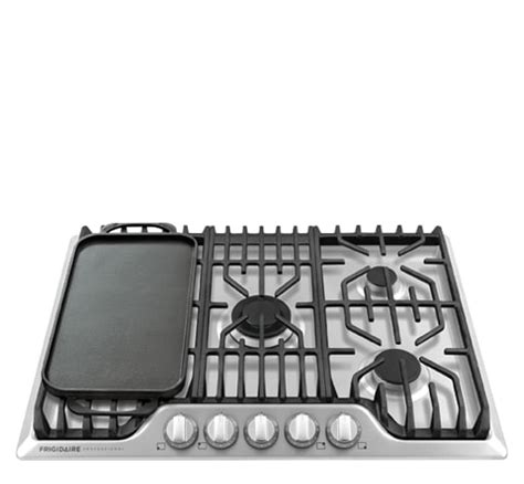 30 Gas Cooktop With Griddle frigidaire professional 30 gas cooktop with griddle stainless steel fpgc3077rs