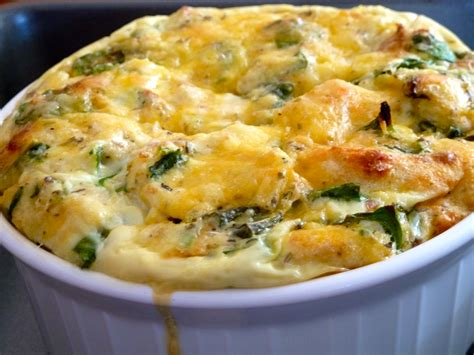 egg strata spinach and egg strata recipe dishmaps