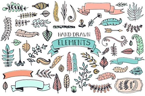 a doodle free 56 doodle decoration elements illustrations creative