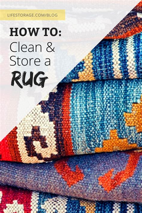 how to store a rug storage
