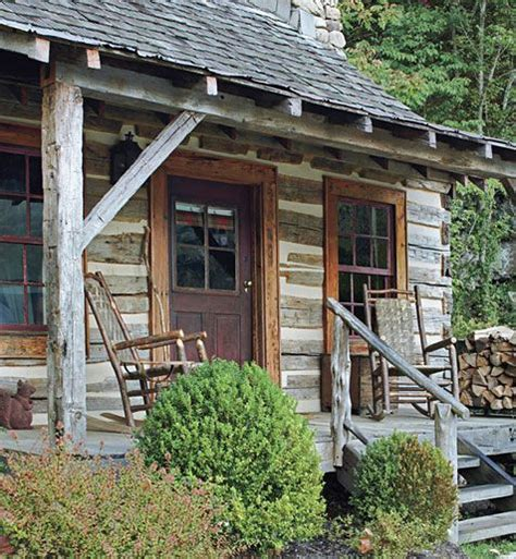 cabin porch log cabin cooking rustic front porch dream home inspiration pinterest