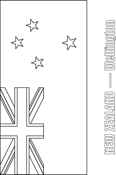 Geography Blog New Zealand Flag Coloring Page New Zealand Flag Coloring Page