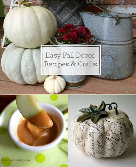 fall food crafts for fall decor recipes crafts on aoc an oregon cottage