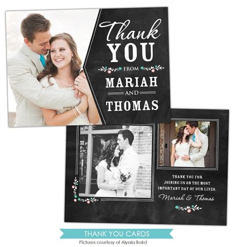 thank you card templates for photoshop wedding thank you card chalkboard tag chalkboard tags